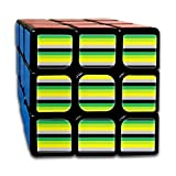 Aro Pride Stripes (with Yellow)_1014 3x3 Magic Speed Cube Smooth Speed Magic Rubik Cube Puzzles Toys