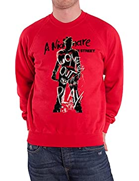 Officially Licensed Merchandise Nightmare On Elm Street - Come Out And Play Sweatshirt (Red)