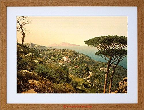 VINTAGE PHOTO MOUNT SORRENTO CAPRI ISLAND ITALY FRAMED PRINT F12X7593 (Capri Island Light)