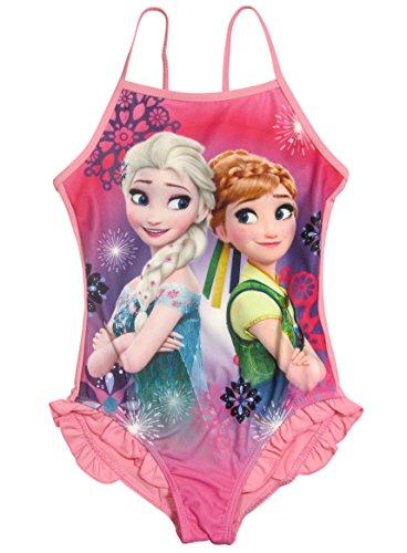 Frozen Badeanzug Die Eiskönigin 2016 Kollektion 98 104 110 116 122 128 Anna Neu Völlig Unverfroren Anna und Elsa Fuchsia (98 - 104, Fuchsia)