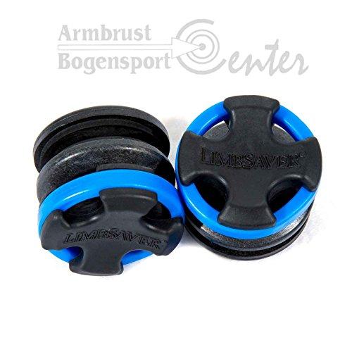 LIMBSAVER Broadband Split Limbsaver,Wurfarmdämpfer für Compoundbögen mit getrenten Wurfarmen, blau