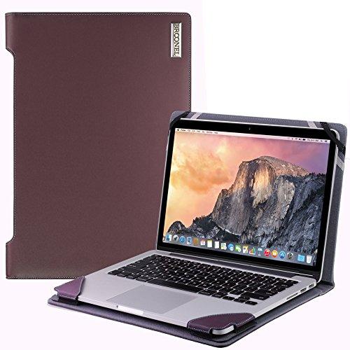 Broonel London - Profile Series - Purple Leather Luxury Laptop Case For Macbook Pro 15-Inch 2015
