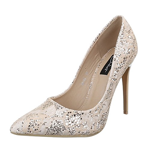 Beige Escarpins Collections Paypal Italdesign Femme Avec q4ECxwO