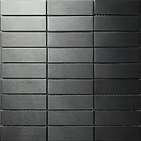 Modernen Stil Rechteck Streifen Edelstahl Silber Fliesen, Innenwand Dekoration  Mosaik Fliesen Aufkleber, Farben Optional