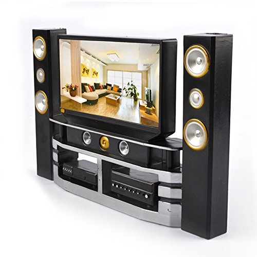 Asiv mini hifi tv home theater cabinet combo for barbie doll furniture accessories 21 14 3cm Home theater furniture amazon