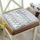 M&X Volltonfarbe Warme Cord Quadratische Büro Essen Stuhl Pad Sitz Kissen Heimische Wohnzimmer Schlafzimmer Weichen Boden Kissen Japanisches Tatami Kissen-J 40x40cm(16x16inch)