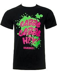 "Camiseta ""gabba gabba hey"" de los Ramones (Negro)"
