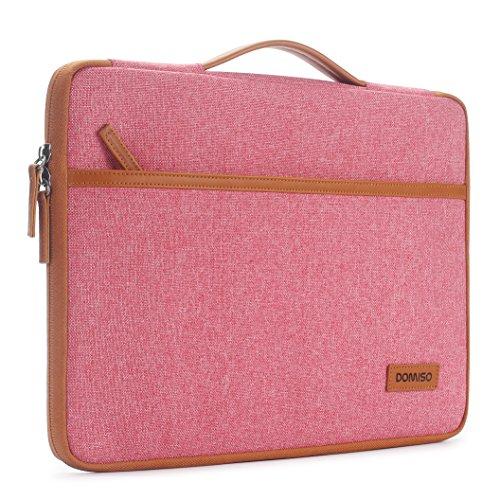 DOMISO 10.1 zoll Tablette Hülle Etui Notebook Tasche Tragende Handtasche Abdeckung für 9.7 inch iPad Pro / 2017 New 9.7 inch iPad / 10.5 inch iPad Pro / 9.7 inch Samsung Galaxy Tab S3 (Pink)