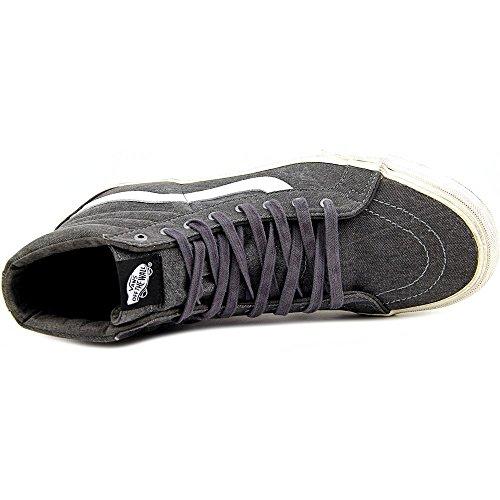 Vans  SK 8 Hi, Chaussures de Gymnastique mixte adulte Over washed Black-True White