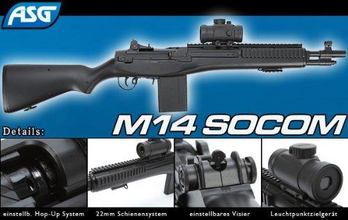 GSG Softair Gewehr Mod. M14 Socom (<0,5 Joule), schwarz 203190
