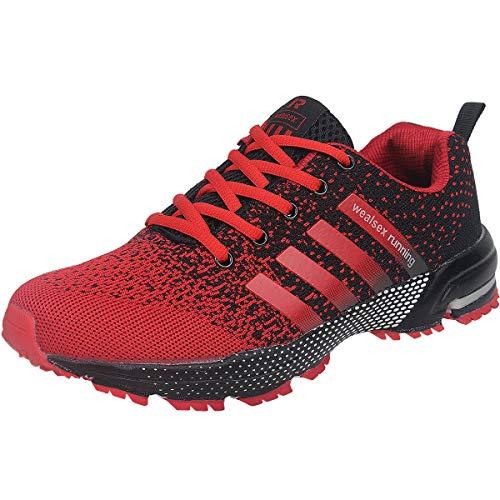 Wealsex Zapatos para Correr En Montaña Asfalto Aire Libre Deportes Zapatillas De Running para Hombre...