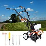 Samger Samger Mini motoculteur Moteur de cultivateur 52cc 2 Temps Gaz Essence Jardin Rotovator Pelouse