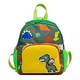 Sansee Kindergartenrucksack Dinosaurier Kinder Rucksack Schultasche für 1-7 jährige Jungen und Mädchen im und Kita Kleine und Große Freunde (Grün)