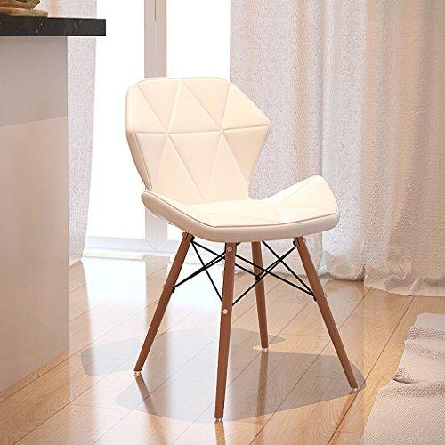 Taburete de Cuero de Madera Maciza Simple, Mesa de Comedor práctica de Cuatro Patas Balcón Mesa de Centro Sofá Sillón para el hogar (Color : White, tamaño : 35 * 71cm)