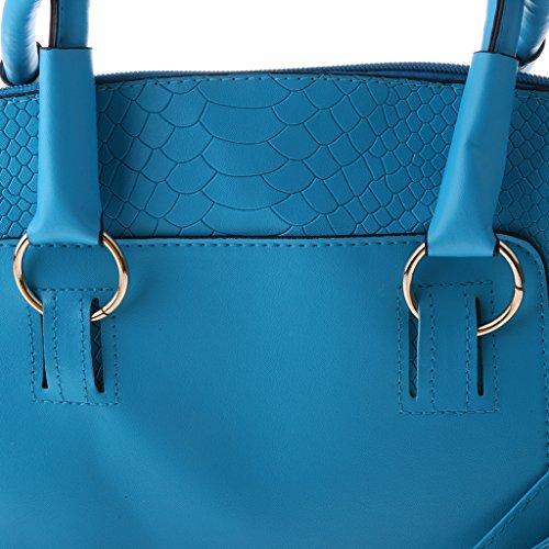 Sharplace Donna Ragazze Moda Borsa Spalla Borsette da Polso Pochette da Giorno Sacchetto da Partito - Nero Blu