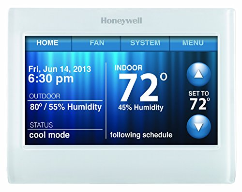 Honeywell TH9320WF5003 Wi-Fi 9000 Color Touch Screen Programmable Thermostat, 3.5 x 4.5- Inch, White by Honeywell