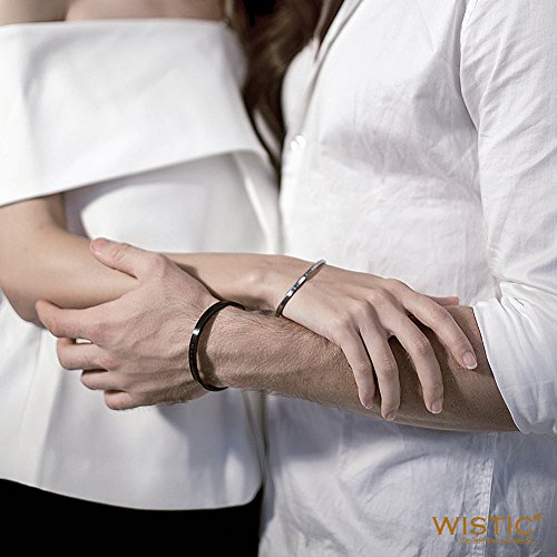 """Parr Partner Armbänder aus Edelstahl mit Gravur """"His Only & Her One"""" (""""His Beauty & Her Beast"""")"""