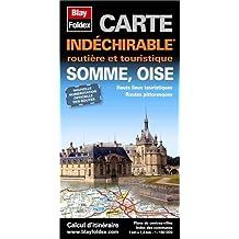 Somme (80), Oise (60). Carte Départementale, Routière et Touristique (échelle : 1/180 000)