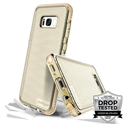 Prodigee [Safetee for Samsung Galaxy S8 Plus Cover Protective Case Schlank Handyhülle Fall Schutz dünn Hülle Stück dünner dünn Gold Clear Transparent 2 Meter Militär Drop Test Zertifiziert
