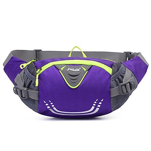 Ibssports Hüfttasche Multi-Function Gürteltasche Wasserabweisende Bauchtasche Flache Taille Tasche zum Sport und Reisen Violett