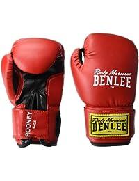 Benlee Rocky Marciano Rodney - Guante de boxeo (PVC), color rojo/negro, talla 8