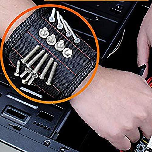 TAOtTAO Magnetic Wristband Magnetische Armband-Taschen-Werkzeug-Gürteltasche-Taschen-Schrauben, die Arbeitshelfer halten (Schach-kühlschrank-magnete)