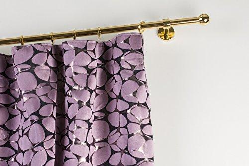 Bastone per tende Ø 20 mm, L. 160 cm. in ottone lucido – completo