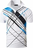 jeansian Herren Summer Sportswear Wicking Breathable Short Sleeve Quick Dry Polo T-Shirts Wicking Breathable Running Training Sports Tee Tops LSL226 White L [Apparel]