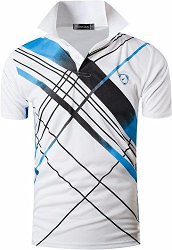 S/s Polo-tee (Jeansian Herren Summer Sportswear Wicking Breathable Short Sleeve Quick Dry Polo T-Shirts Wicking Breathable Running Training Sports Tee Tops LSL226 White S [Apparel])