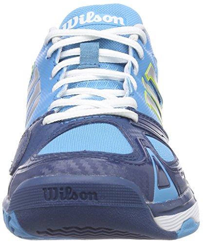 Wilson RUSH EVO WOMAN, Scarpe da tennis donna Multicolore (Light Ultramarine / Pacific Teal / Solar Lime)