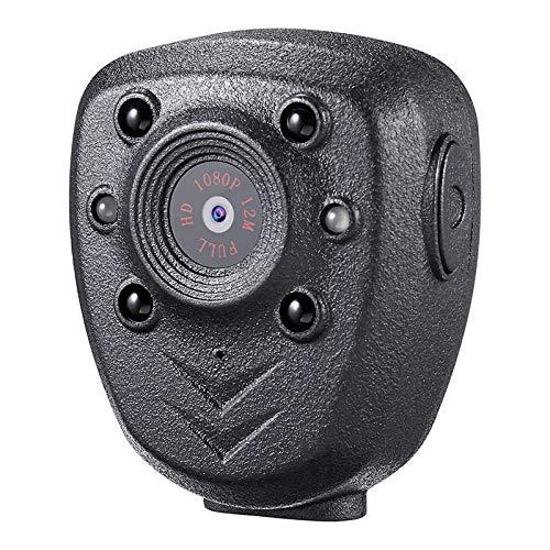 Preisvergleich Produktbild HAMISS HD 1080P Police Body Lapel Worn Video Camera DVR IR Night Visible LED Light Cam 4-Hour Record Digital Mini DV Recorder Voice 1
