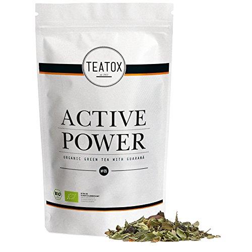 TEATOX Active Power Tee, Bio Grüntee mit Guarana (loser Tee im Grobschnit im Refill) (Im Active)