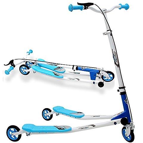 Trottinette Duo 3 Roues - Pliable - Patinette - Bleu Garçon enfant