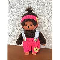 Hose und Stirnband für Monchichi 20 cm Häkelblume