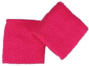 Serre-Poignet, Poignet eponge en Lot de 2 | Couleur: pink