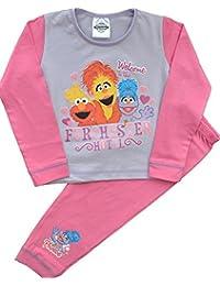 Girls Cbeebies Furchester Hotel Pink Pyjamas Size 18 Months to 5 Years