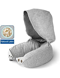 1st Class Travel Accessories -Natural Latex Travel Pillow/Portable Footrest - Ultra Comfort for Travelling in Airplane, Car, Train and Office