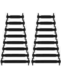 Newkeen No Tie Lacets pour Les Enfants et Adultes, imperméables Silicon  Flat élastiques Lacets de Sport Course de Chaussures pour… 6625b7d7bd44