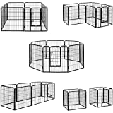 Milo & Misty Heavy Duty Playpen. 8 Panel Folding and Portable Outdoor Cage for Dog, Puppy, Rabbit, Guinea Pig. Modular Pet Enclosure. (80 X 80cm)