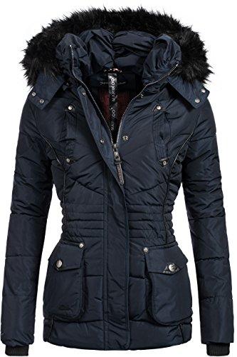 Marikoo Damen Jacke Winterjacke Steppjacke Vanilla 8 Farben XS-XXL