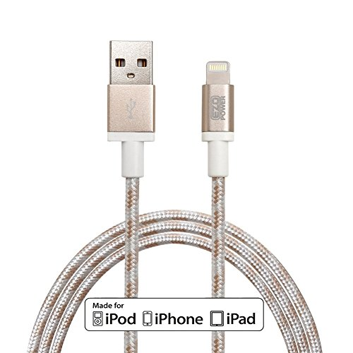 (MFI CERTIFICATO APPLE) EZOPower 8-Pin Lightning USB sincronizzare & di carica dati cavo in Nylon per Apple iPhone 6s / 6s plus /6 4.7