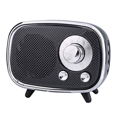 ToDIDAF Q22 Tragbarer Drahtloser Bluetooth-Lautsprecher, Mini-Musik-Player, FM-Radio + USB-Funktion, Schnelles Laden und Langer Standby-Modus - Schwarz/Rot/Blau (Schwarz)