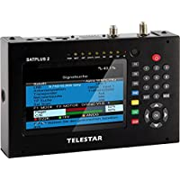 Telestar SATPLUS 2 Messgerät (DVB-S/S2/C/C2/T/T-HD, 12,7cm (5 Zoll) LCD-Farbdisplay inkl. Live Bild, 12 Sprachen) schwarz