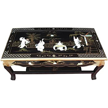 Chinese Mother Of Pearl Coffee Table, Oriental Chinese Furniture