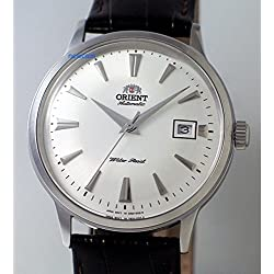 "ORIENT ""Bambino 4"" Classic Automatic with Hand Winding White Dial Watch FAC00005W"