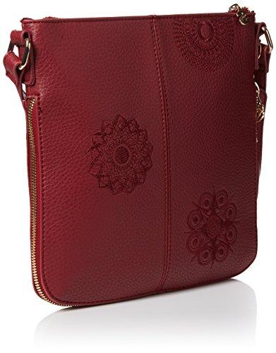 Desigual Damen Moscu New Alexa Umhängetaschen, 25x26x8 cm Red (3082)