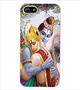 ColourCraft Lord Ram and Bhakt Hanuman Design Back Case Cover for APPLE IPHONE 5S