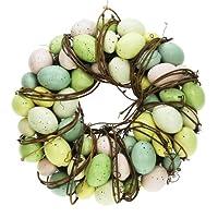 Questa splendida ghirlanda alla porta, A PARETE o in aggiunta finestra di visualizzazione e ospiti grande aggiunta di Pasqua Tag feste in Style. Con un realistico uova in splendidi colori pastello, rilegato con rustico i rami, una bella decor...