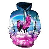 Cowesoo Rainbow bunte Wolken Digital Print Unisex Hoodies Einhorn 3D-Sweatshirt