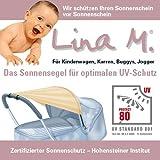 Sonnensegel Kinderwagen, UPF 80+, zertifizierter Schutz!! Farbe sand